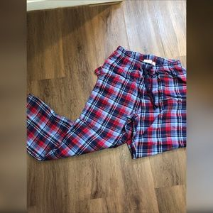 Llbean flannel plaid pajama pants S